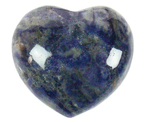 Steengoed - pietra preziosa a forma di cuore, in sodalite, da 40mm, colore: blu