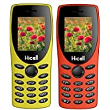 Hicell C1 Tiger (Combo Of Two MOBILES) Dual Sim Mobile Phone With Digital Camera And 1.8 Inch Screen (Yellow+Orange)