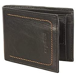SPAIROW Mens Genuine Leather Wallet (W-341) BLACK