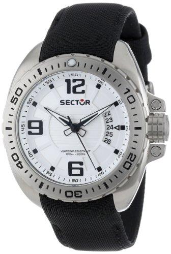 Sector R3251573003 - Reloj analógico de Cuarzo para Hombre con Correa de Nylon, Color Negro