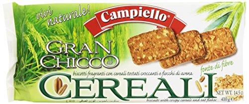 Campiello - Cereali, Biscotti Fragranti con Cereali Tostati, Croccanti e Fiocchi di Avena - 410 g