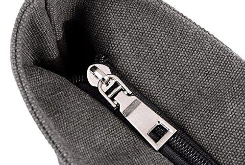 Segeltuchbeutel Große Beutel Schulter Schulter Große Kapazität Tuch Einfache Dame Tasche Beige