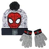 Spiderman 2200-2558 Set 2 Pezzi, Coordinati Invernali, Cappello Pompon, Guanti, BambinI, Multicolore