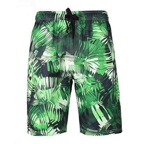 Yowablo Herren Swim Shorts Badehose Badeshorts Schwimmhose Beachshorts Boardshorts Strand Shorts Schnelltrocknend Kurz Kurze Sporthose (L,11Grün)