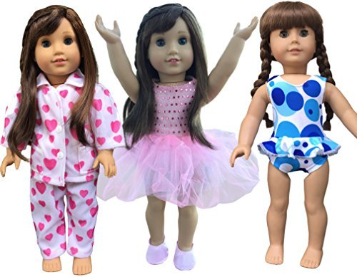 instyle-doll-clothes-3-outfits-for-american-girl-doll-clothes-18-inch-by-instyle-doll-clothes