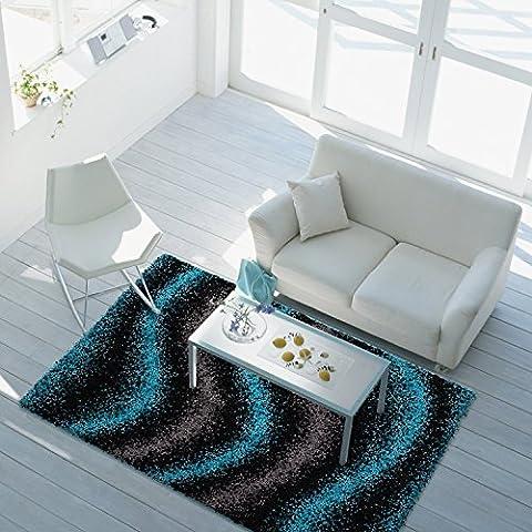 Teppich Hochflor Langflor Shaggy 2,2 kg/m² türkis grau schwarz verschiedene Größen 120x170 cm