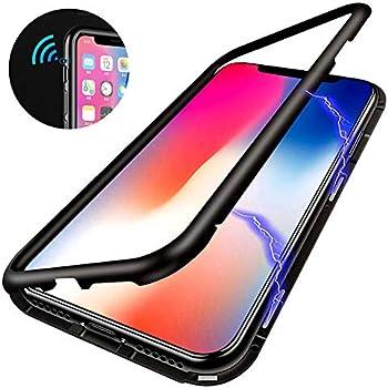 Coque iPhone XR, ZHIKE Coque Adsorption Magnétique Avant et Arrière Verre Trempé Couverture