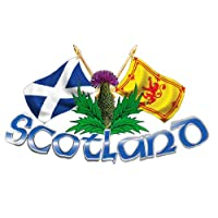 Large Size Scotland Thistle & Cross Flags