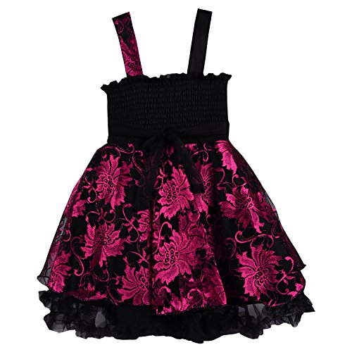 d8e45d621 Wish Karo baby girls Party Wear Frock Dress DN fe1102pnk - Fashion ...