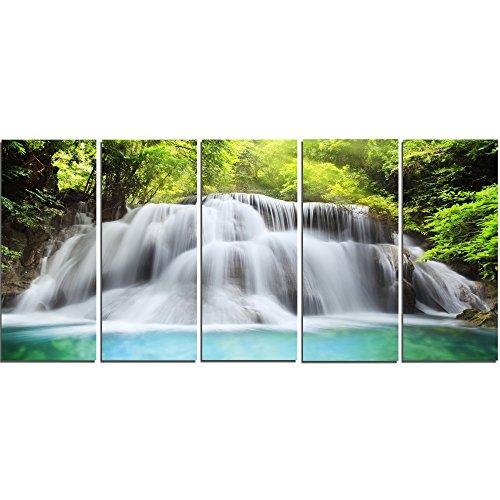 Art-design Designart Huai Mae Kamin Wasserfall Foto Leinwand 60x28-5 Equal Panels (Und Kamin Wasserfall)