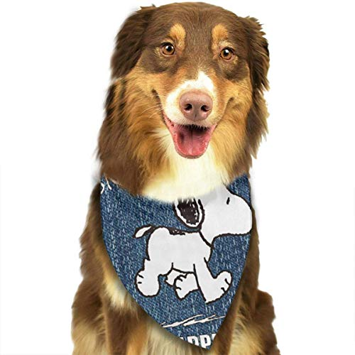 Peanuts Pet Bandana Washable Reversible Triangle Bibs Scarf - Kerchief for Small/Medium/Large Dogs & Cats ()