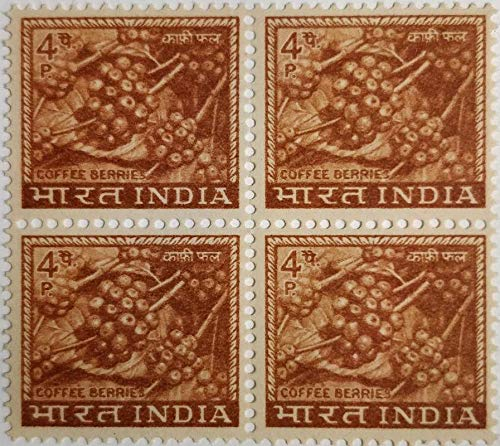 Sams Shopping Indian Definitive Stamps 4th Series Coffee Berries Block of 4 Stamp -