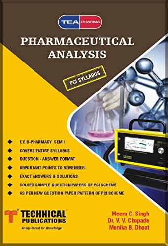 Pharmaceutical Analysis for B. PHARMACY PCI 17 (I - BP102T)