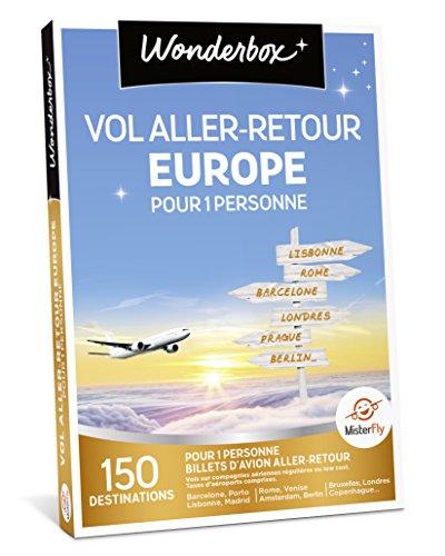 Wonderbox - Coffret cadeau voyage - VOL ALLER/RETOUR EUROPE pour 1 personne - 150...