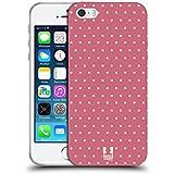 Head Case Designs Pink Punkte Französische Land Muster Soft Gel Hülle für Apple iPhone 5 / 5s / SE