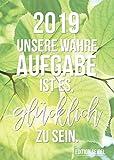 Edition Seidel Sprüche Premium Kalender Wandkalender 2019 DIN A3 Bilder mit Sprüchen Dekoration zum Aufhängen Geschenk