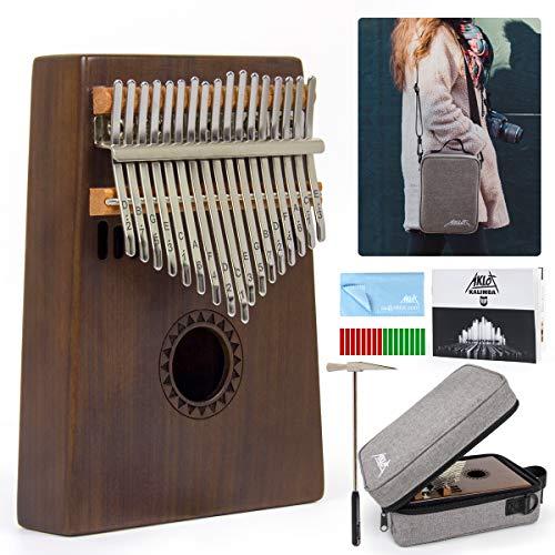 AKLOT Kalimba 17 Schlüssel Marimba Daumen-Klavier für Kinder Erwachsene,Massivholz Daumenklavier High Qualität Professionelle Musikinstrument Geschenk Mbira Finger-Klavier