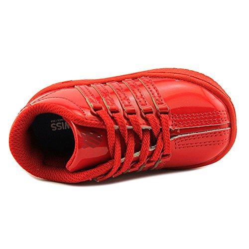 K-Swiss Classic VN Cuir verni Baskets Red Ribbon-Red Ribbon