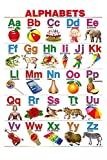 English Alphabet Chart for Kids | Educational Poster | Learning Chart-100yellow