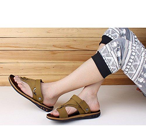 Sandales homme d'été sandales en cuir sandales sandales US6-6.5/EU38/UK5-5.5/CN38
