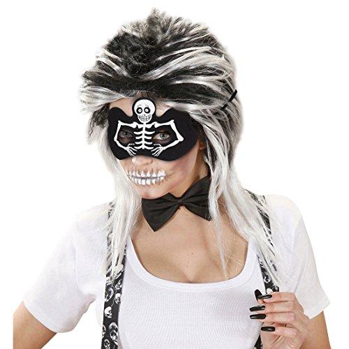 chädel Domino Maske Halloweenmaske Gespenst Totenschädel Horrormaske Totenkopf Gespenstermaske Halloween Kostüm Zubehör (Halloween-domino-spiel)