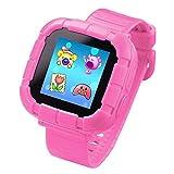 Jeu Enfants Smart Watch pour Enfants Garçons Filles Jouets Montre Poignet avec Écran Tactile Appareil Photo Jeux Timer Réveil Podomètre Smartwatch Wristwatch Wristband (Rose)