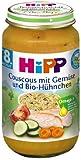 HiPP Couscous mit Gemüse und Bio-Hühnchen, 12er Pack (12 x 220 g)