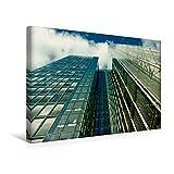 Premium Textil-Leinwand 45 cm x 30 cm quer, Spiegelnde Glassfassaden eines Hochhauses mit Himmelsblick   Wandbild, Bild auf Keilrahmen, Fertigbild auf ... mit spiegelnder Glasfassade (CALVENDO Orte)