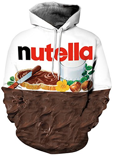 EmilyLe Herren digitaldruck Galaxy Bunt Sweatshirt Langarm Kapuzenjacke mit Tier Muster Frühling Jumper Fashion Pullover (XXL/XXXL, A-Schokolade)