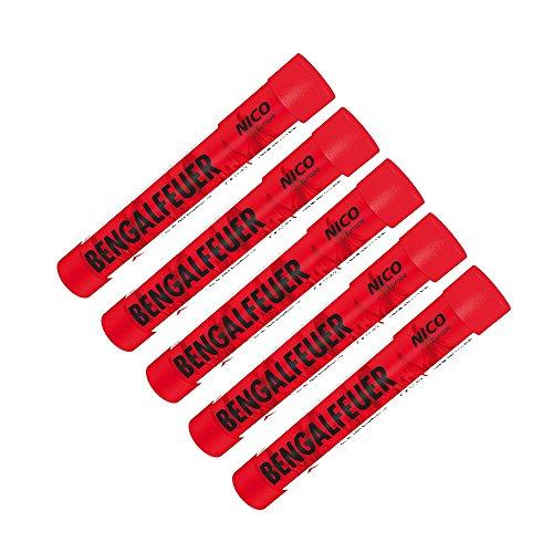 Bengalfeuer 5 Stück rot blinkend thumbnail