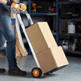 VonHaus Hand Truck/Sack Truck - Multi-Functional Folding Aluminium Alloy Sack Truck & Dolly For Convenient Lifting & Moving At Home, Office & Outdoors 90kg Capacity