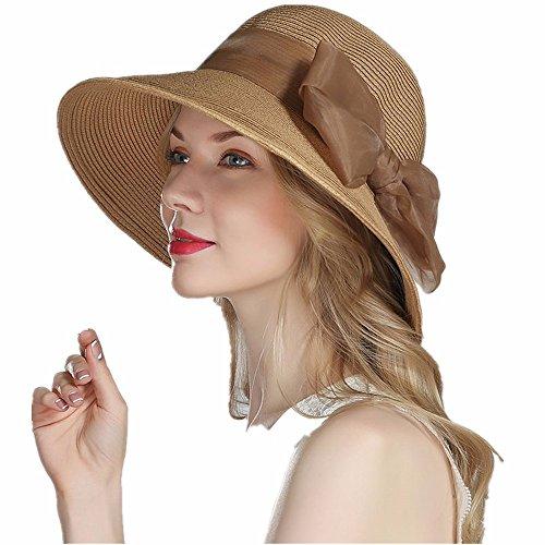 Girl Kostüm Pac (Damen hat Fischer tide Sonnenblende Strand Ausflüge Freizeit Shopping Falten sun Caps verstellbar 56-58 cm)