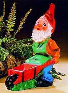 Zwerg mit Karre, 45 cm, Gartenzwerg, Kunststoff
