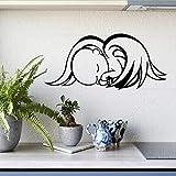 Cmdyz Schöne Baby Im Auto Niedlichen Schlafenden Baby Engel Warnung Abziehbild Reflektierende Wasserdichte Auto Aufkleber Fenster Vinyl Abziehbild