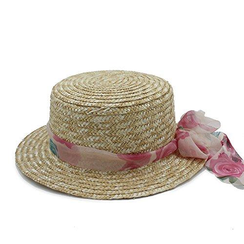 LLP-HAT Brand New Wool Boater Flat Top Hut für Frauen Filz Wide Brim Fedora Hut Laday Prok Kuchen Chapeu de Feltro Bowler Gambler Top Hut (Farbe : 6, Größe : 58 cm)