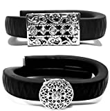 Fashion Bling pour fitness Accessory Cover For Jawbone Up Up2up24Tracker Wrist Band, Garmin vivosmart (Only Bling Accessory, No Traceur), 2 pcs B