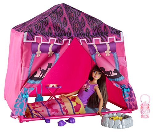 Mattel Barbie BDG23 - Puppe, Fab Family Schwestern Safari-Zelt