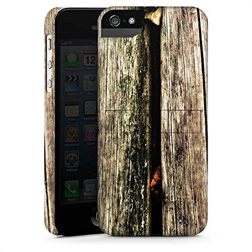 Apple iPhone X Silikon Hülle Case Schutzhülle Planken Moos Holz Look Premium Case StandUp