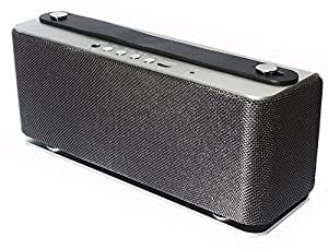 **Uprated** Audio Dynamix Atom V2i - Rechargeable Bluetooth V4.0 Stereo Speaker with free Carry Case. 20hrs playtime and 40 metre BT range- Silver