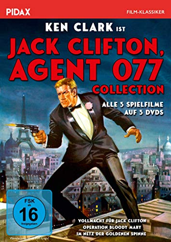 Jack Clifton, Agent 077 - Collection / Alle 3 Kultfilme mit Ken Clark (Pidax Film-Klassiker) [3 DVDs]