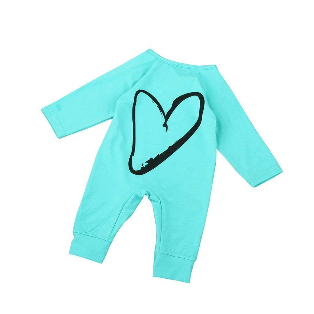 Deloito Baby Kids Boy Girl Infant Romper Pyjamas Jumpsuit Bodysuit Cotton Clothes Newborn Kids Baby Boys Girls Printing Bodysuits One Piece Outfits Clothes
