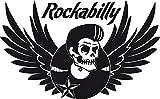 GRAZDesign 600202_57_070 Wandtattoo Spruch Rockabilly | Wandsticker Wohnzimmer| Tattoo in 47 Farben (92x57cm//070 schwarz)