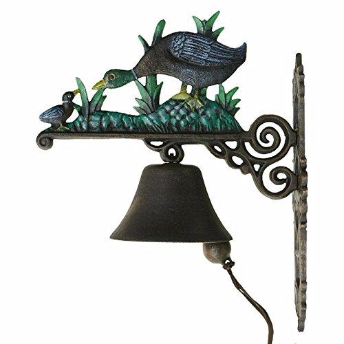 Türglocke Gusseisen Ente Türklingel Schelle Nostalgie Mutter mit Kücken Eingang Haus Gartenhaus Glocke