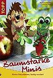 Baumstarke Minis: Kleine Holzstämme lustig verziert