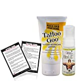 Tattoo Goo Aftercare Lotion Healix Gold And Panthenol (Made In Usa) Proven Moisturizer, Absorbs Quickly, Heal Fast And Protects Dry Skin + Get A Healing / Cleaning Soap 'Heal It' Free. And 'Tattoo After Care Instruction Card'