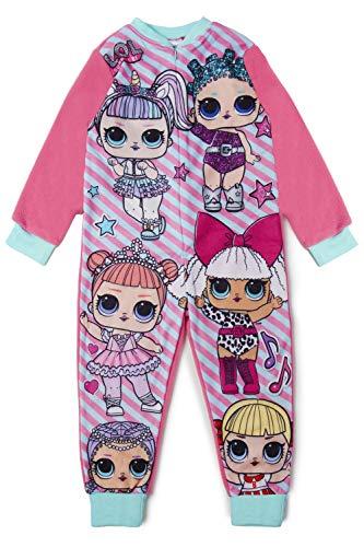 L.O.L Surprise! Pijama Niña Unicornio Invierno 4-12 Años Con Munecas LOL Confetti Pop Unicorn y Diva | Pijamas De Una Pieza Disfraz Onesie Ropa LOL Surprise Niña | Pijamas Enteros Rosa (7-8 años)
