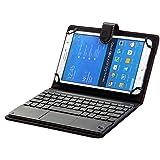 [SCIMIN] Universal 8Pulgadas a 9pulgadas Bluetooth caja del teclado teclado, Touchpad Trackpad para Windows y Android Tablets como Samsung Galaxy Tab A 8.0, Samsung Galaxy Tab S 8,4, Samsung Galaxy Tab S28.0, Acer Iconia One 8, Lenovo Tab S8, Asus Memo Pad 8, Asus ZenPad S 8.0, Sony Xperia Z3Tablet Compact, LG G Pad 8,0, LG G Pad 8.3, Dell Venue 8Pro, Huawei MediaPad M1, Huawei MediaPad M2, Acer Iconia One 8, Acer Iconia Tab 8A1etc...... (negro)