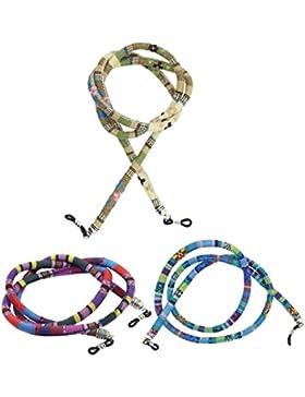 MagiDeal Cuerda para Gafas Cordón Grueso de Algodón Estilo Étnico 3 Piezas