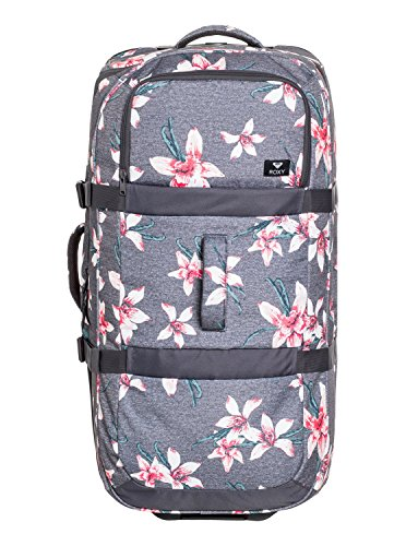 Roxy Long Haul Maleta Extra Grande con Ruedas, Mujer, Rosa/Gris (Charcoal Heather...