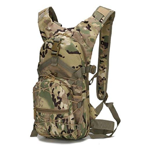 LF&F Backpack Camping outdoor Zaini Borse Tattiche di viaggio esterne di svago tute di sport del camuffamento borsa dell'acqua impermeabile indossare Tear resistente 15L zaino doppio della spalla A 15 D